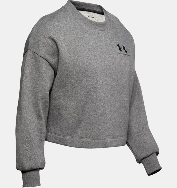 Womens UA Rival Fleece Graphic LC Crew